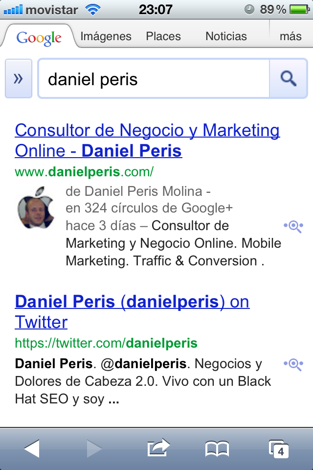 logotipo serps google rel author movil